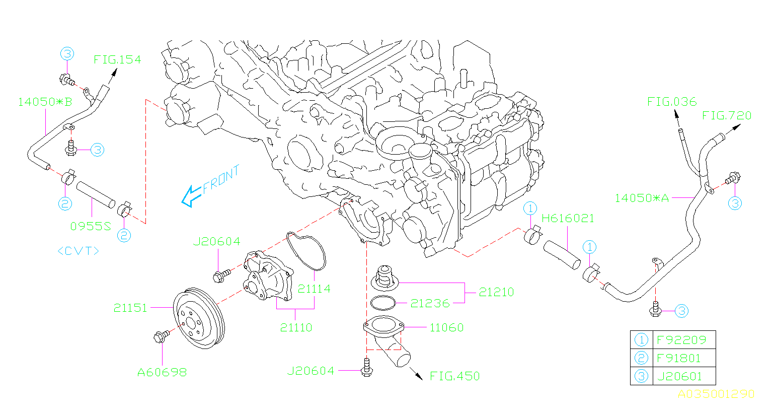 21210aa181 - Engine Coolant Thermostat