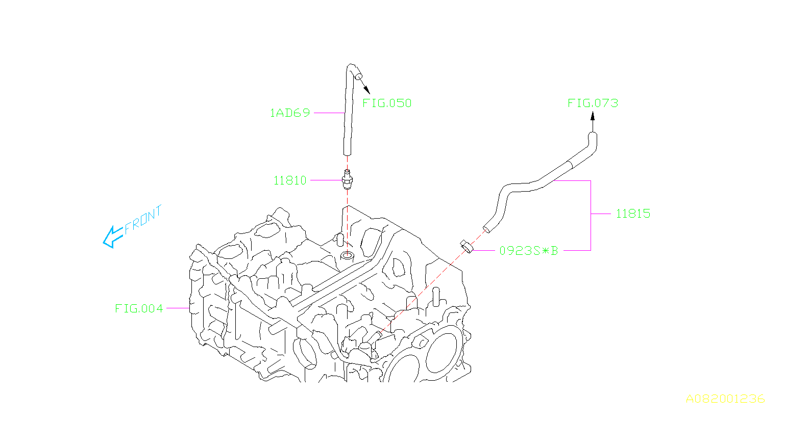 11810aa131 valve complete control emission  pcv  engine