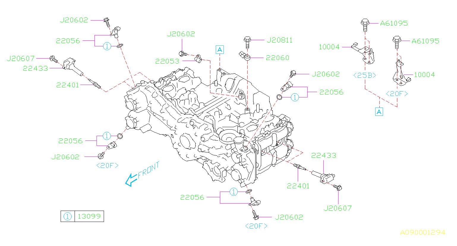 2015 Subaru Forester Spark Plug - 22401aa830