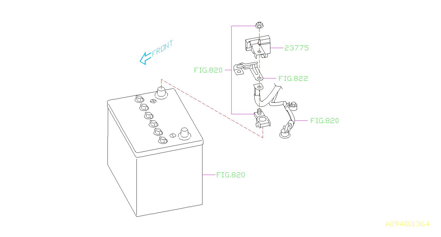 Subaru Forester Sensor Current  Alternator  Engine