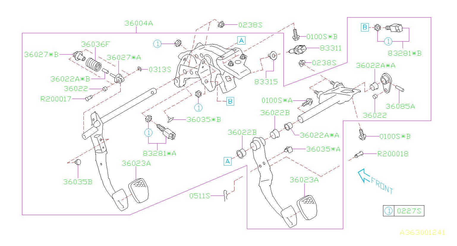 Subaru Forester Clutch Starter Safety Switch  Switch Ay Start  Pedal  Brake  System