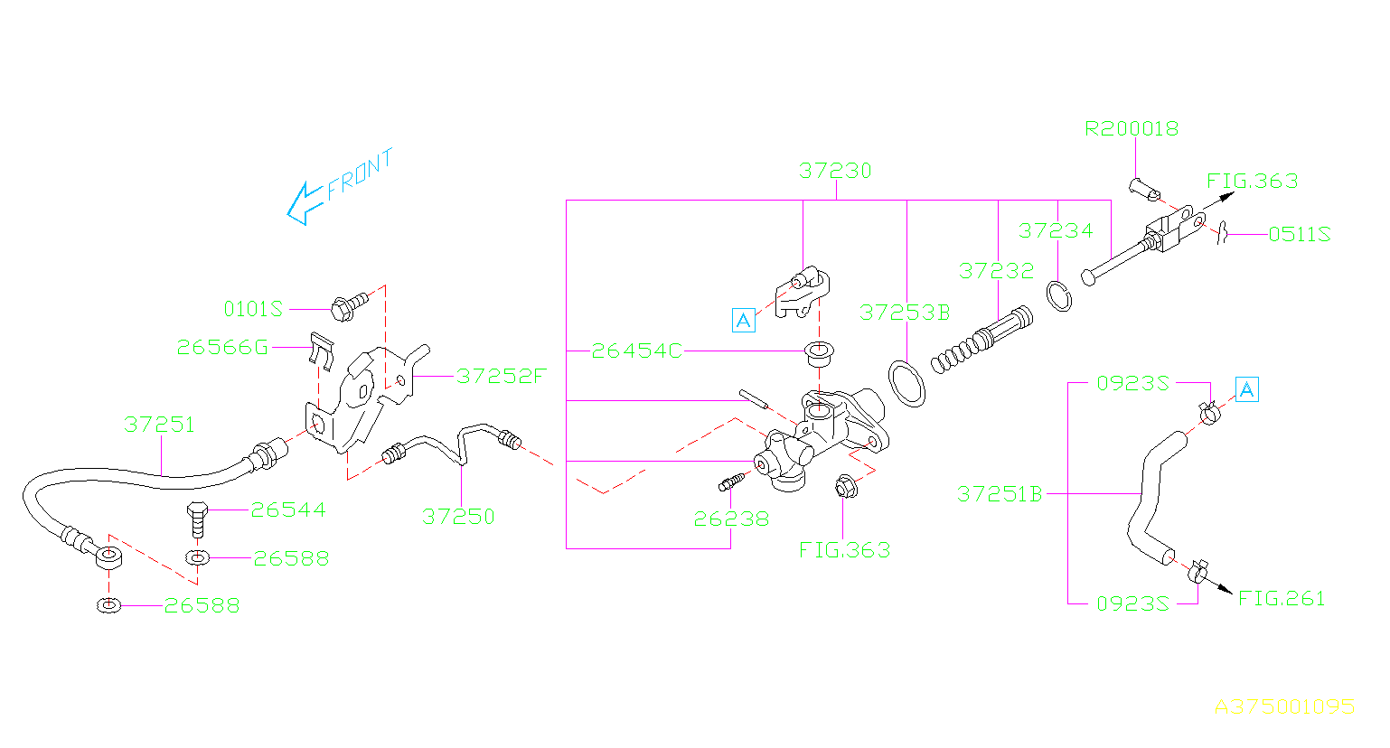 2017 Subaru Forester Clutch Master Cylinder  Clutch Master