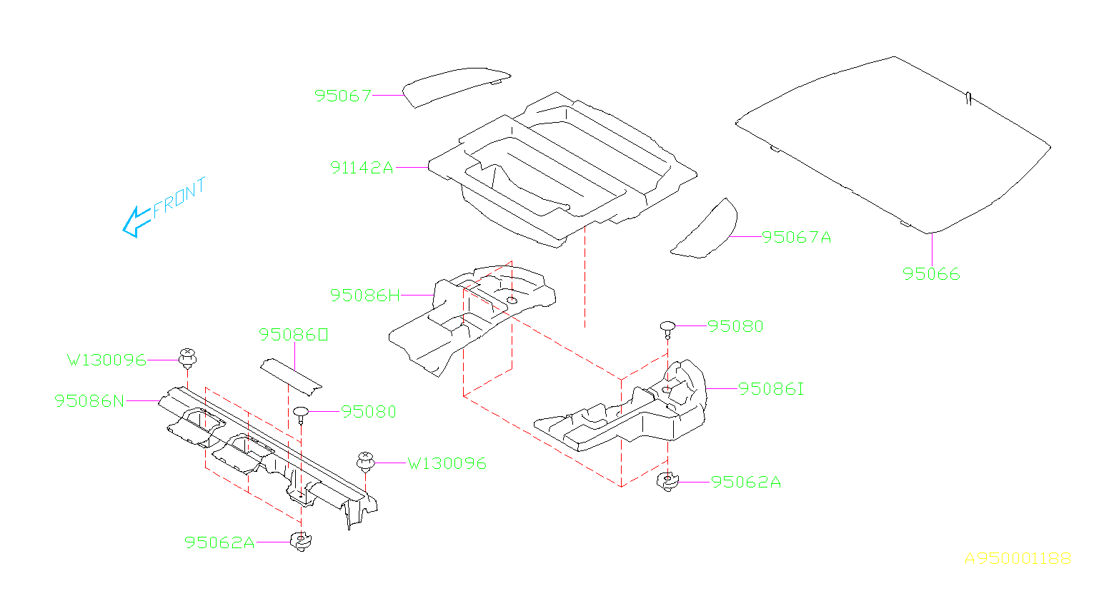 Diagram MAT. REAR. for your 2018 Subaru Forester 2.5L CVT Base Premium