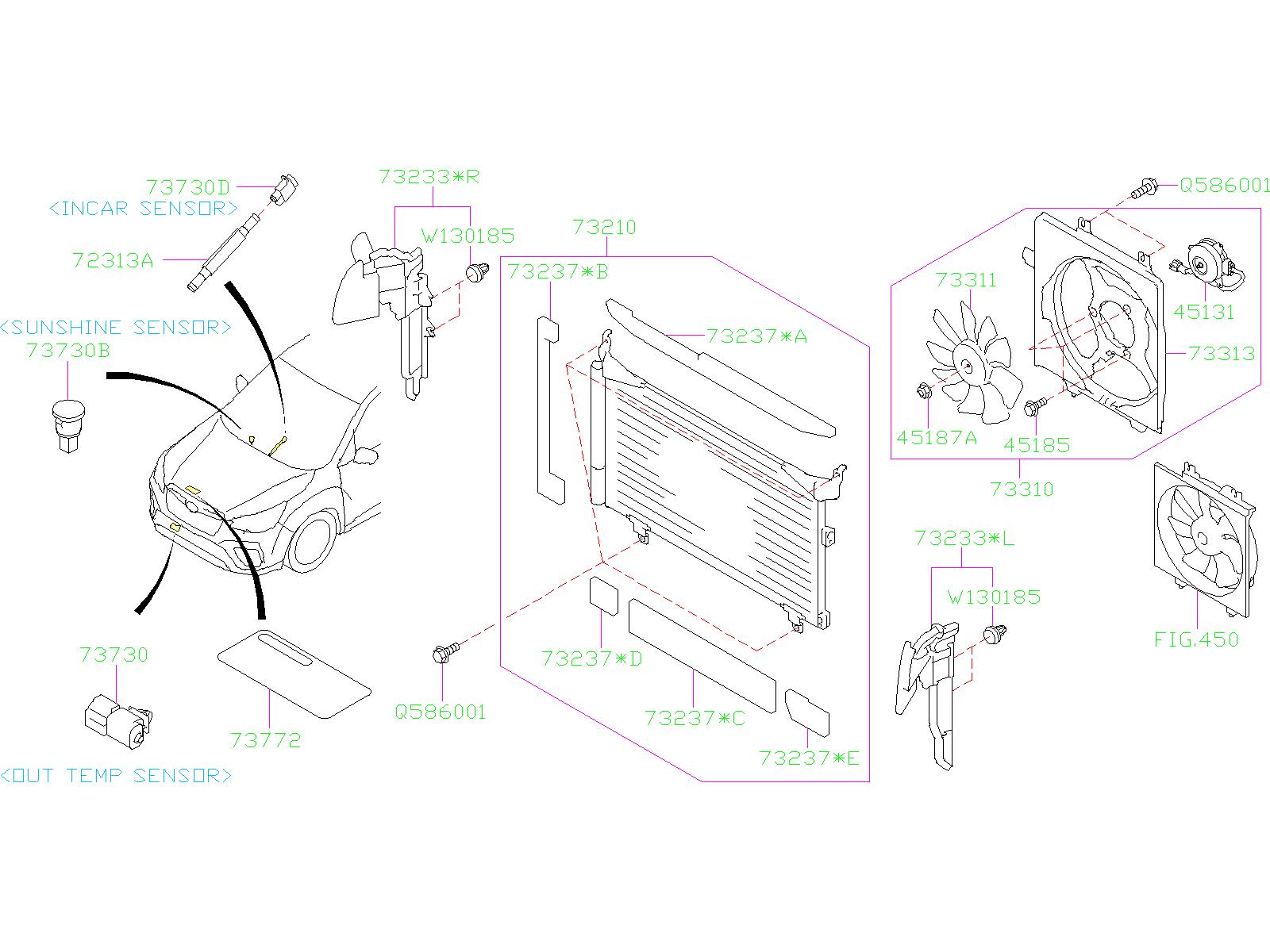 73731FC003  Sensorouter temperature front Air     system     conditioner  Genuine    Subaru    Part