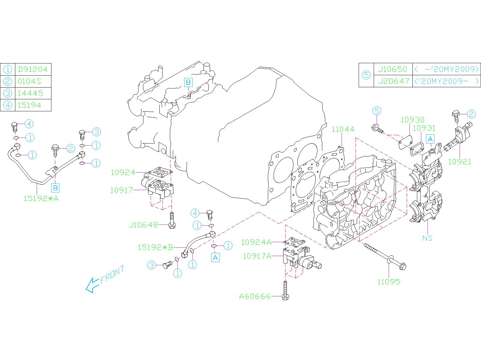 Subaru Impreza Sti Sedan Engine Variable Valve Timing  Vvt  Solenoid  Control