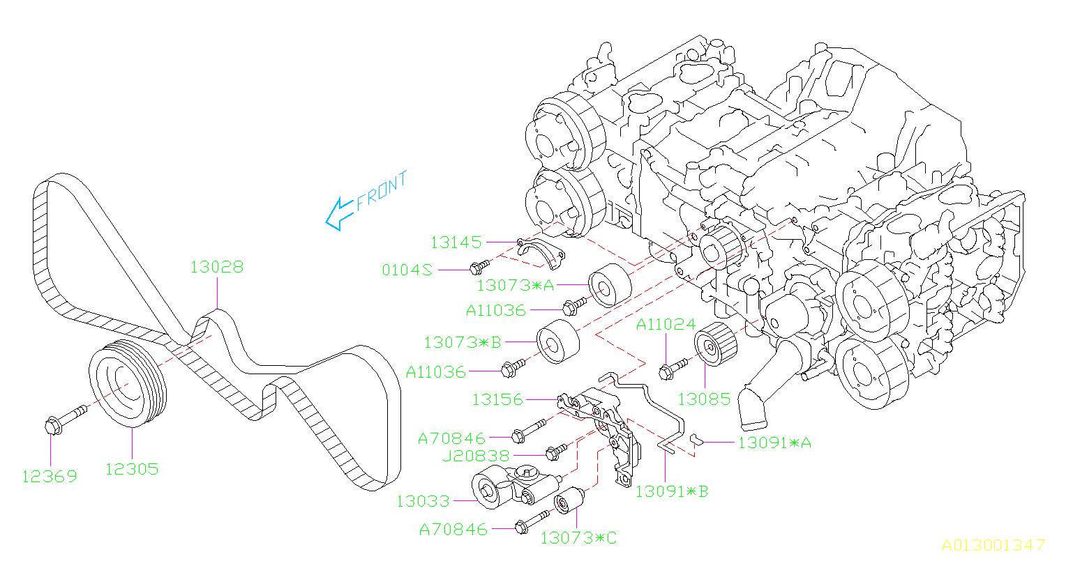 2017 Subaru Sti 2 5l Turbo 6mt Sti Engine Timing Belt
