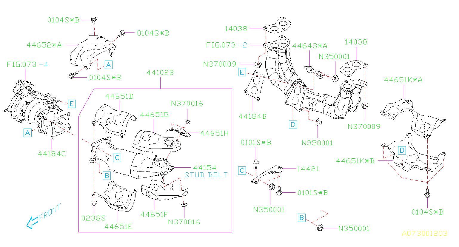 44612aa771 - Catalytic Converter  Exhaust