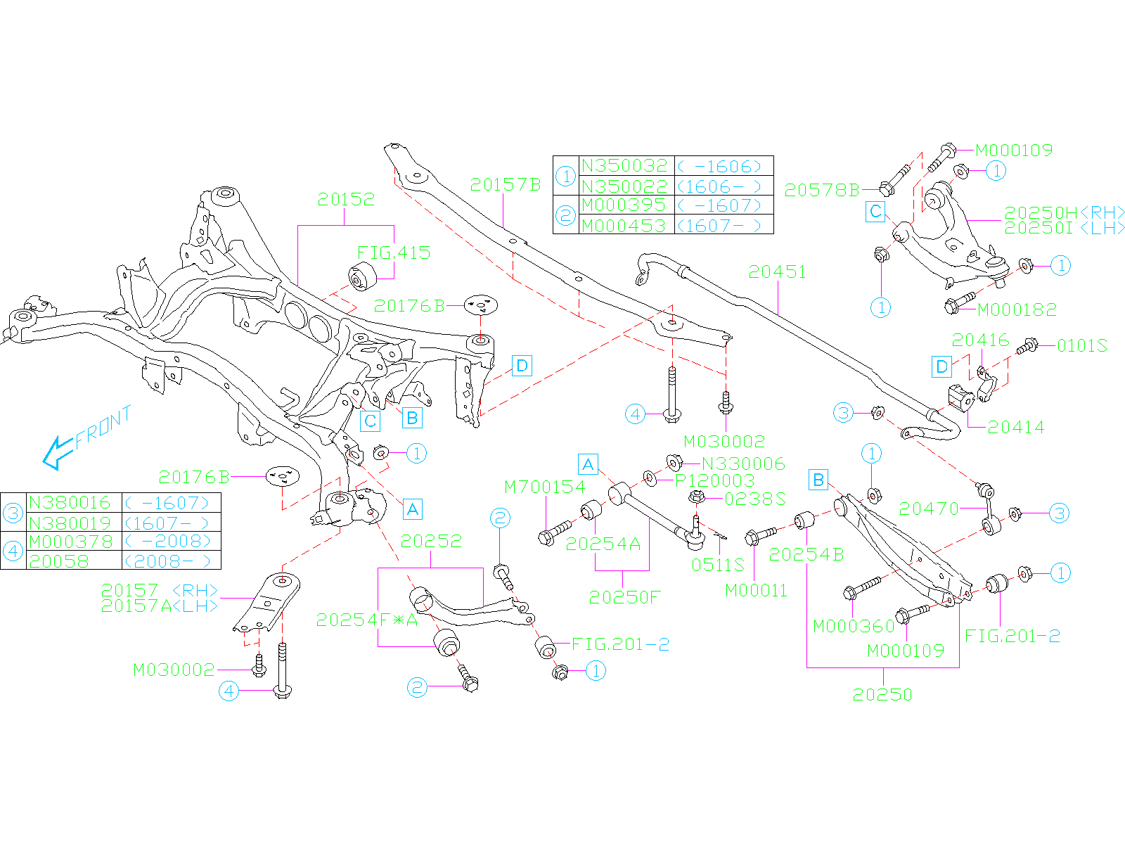 20451fg020 - Suspension Stabilizer Bar  Rear