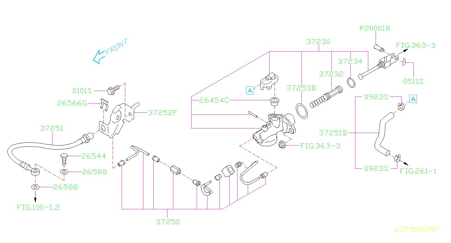 2016 Subaru WRX Clutch Master Cylinder (Left). Pedal ...