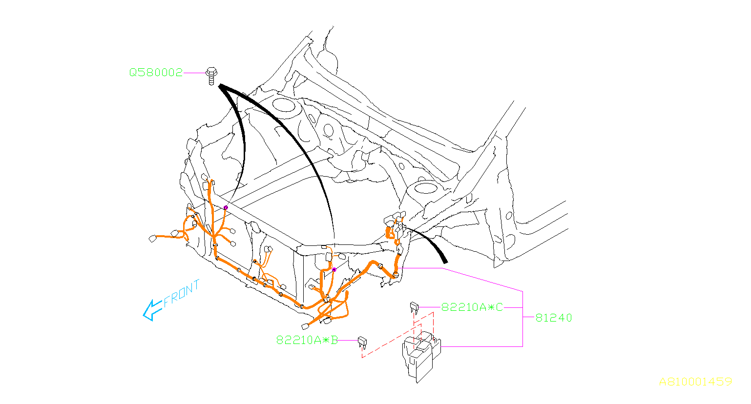 2015 Subaru WRX Wiring Harness JPN. (Front). MAIN ...