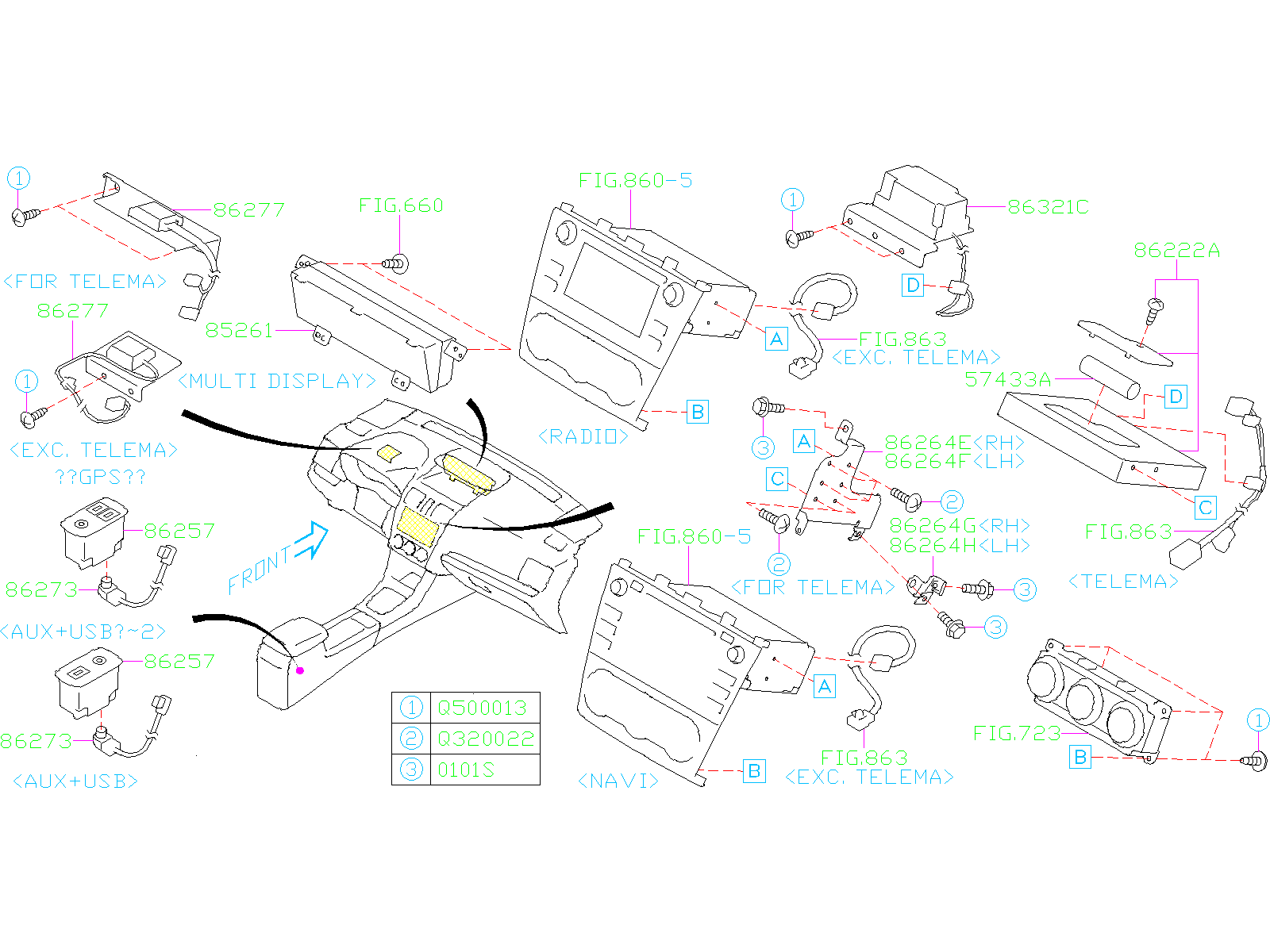 Diagram AUDIO PARTS (RADIO). SYSTEM '19MY-. for your Subaru WRX  STI w/Spoiler