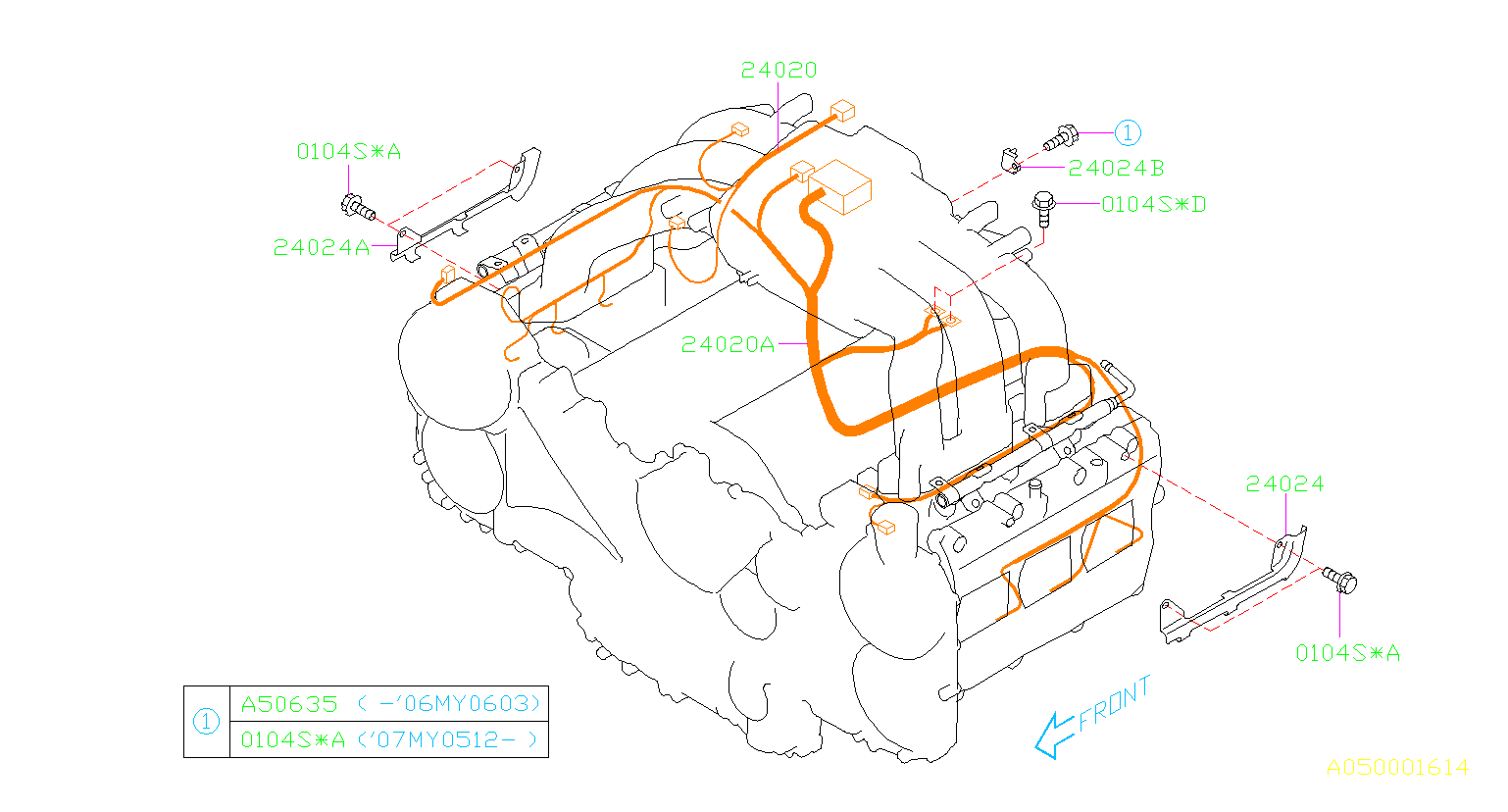 2006 Subaru Tribeca 3 0l 5st-e Harness Engine  Wiring  Manifold  Intake  Cooling