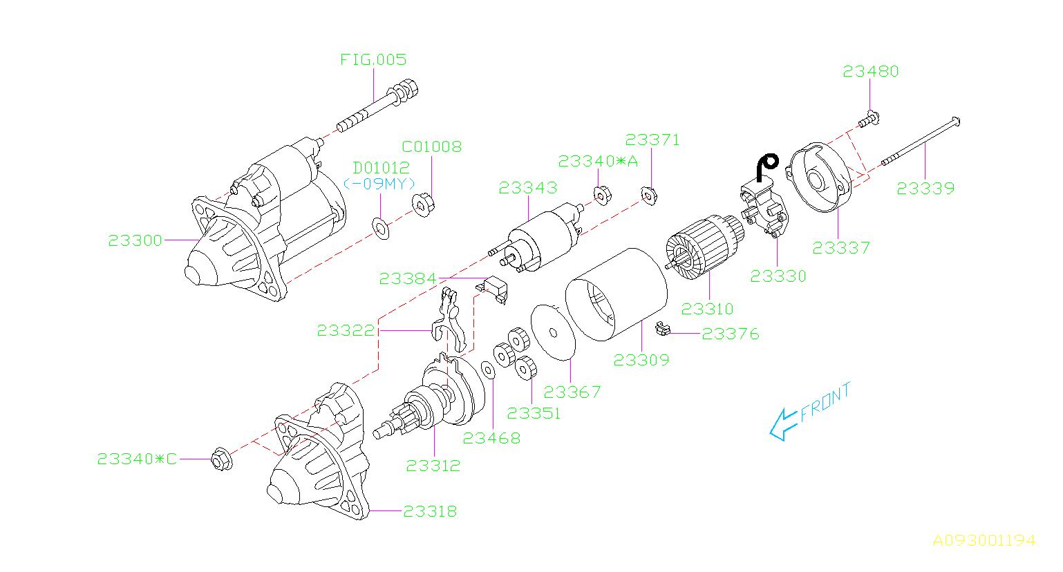 Subaru Tribeca Starter Motor  Engine - 23300aa61a