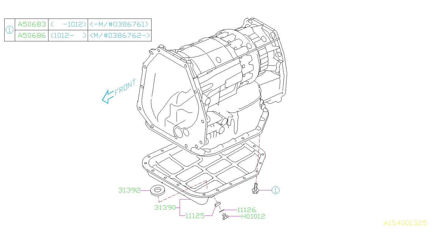 11126aa040 Gasket Drain Plug Transmission Case Pan