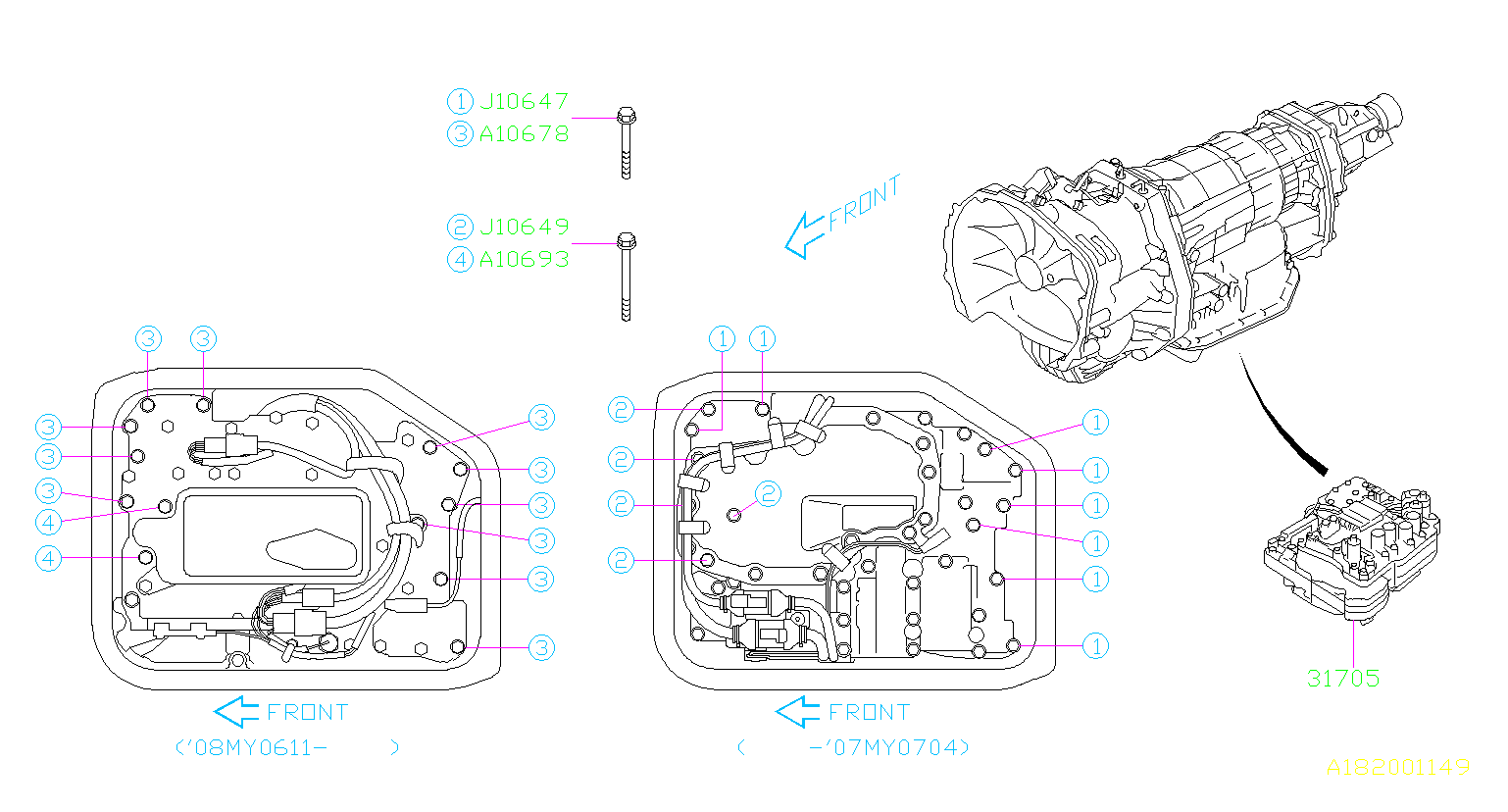 subaru valve control parts transmission body automatic tm diagram assembly tx