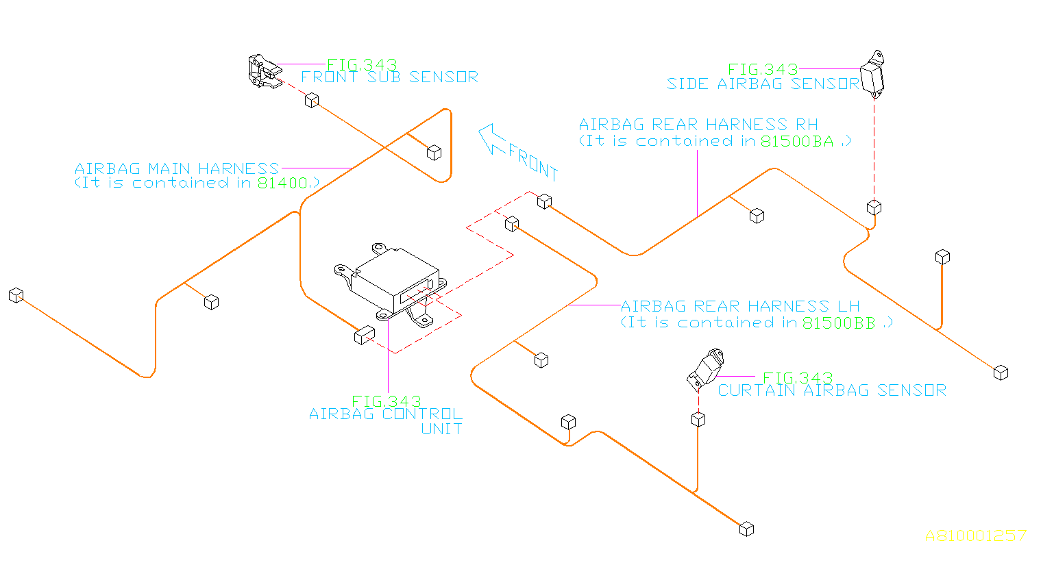 WIRING HARNESS (MAIN). AIRBAG HARNESS.