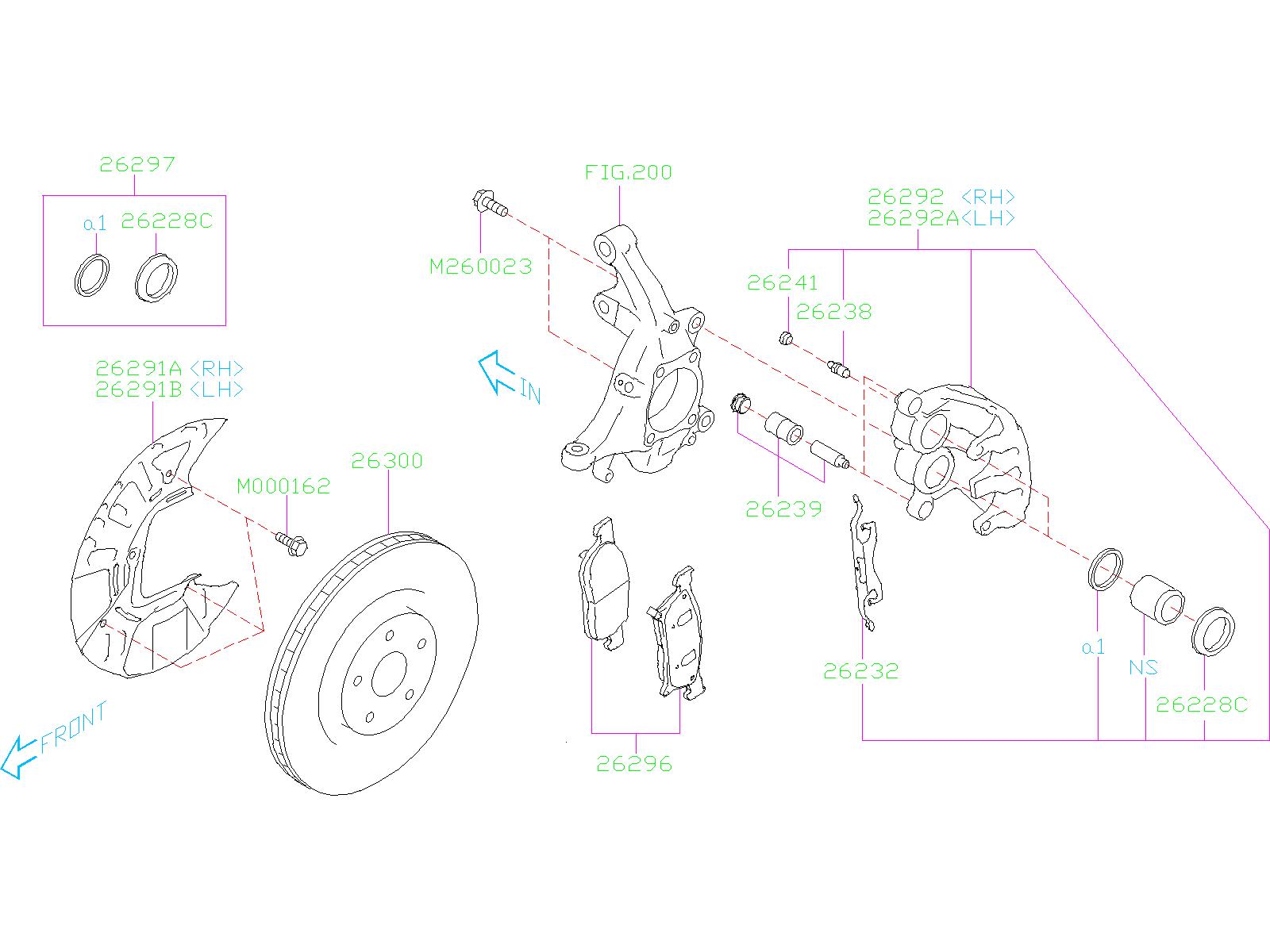 2020 Subaru Ascent Disc Brake Rotor  Front