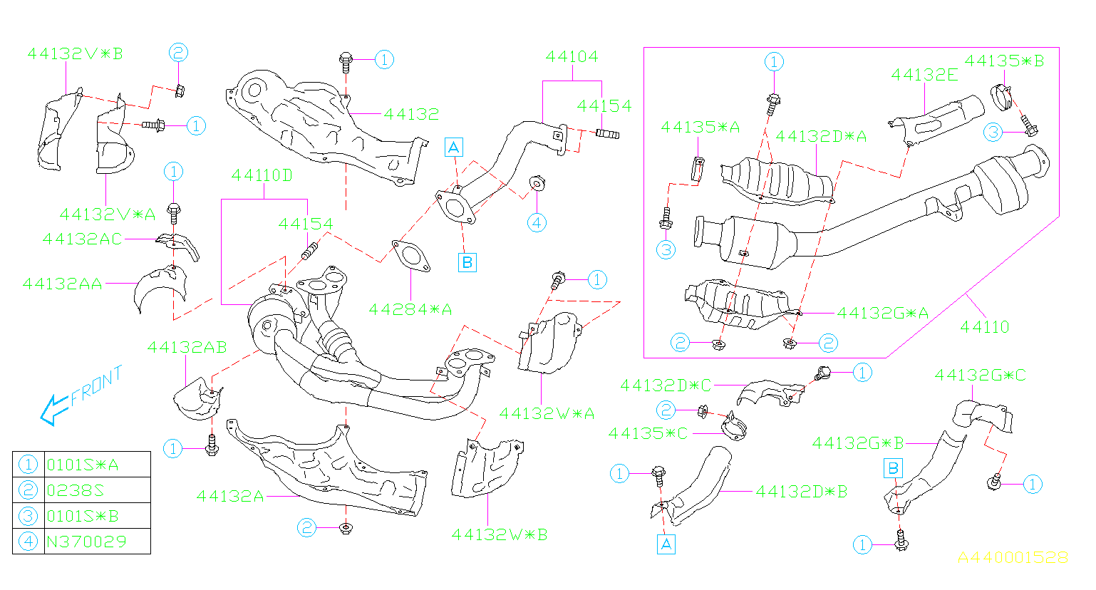 2016 Subaru Brz Catalytic Converter Gasket  Rear   Exhaust