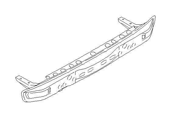 57711ae23a - Bumper Cover Reinforcement Beam  Rear