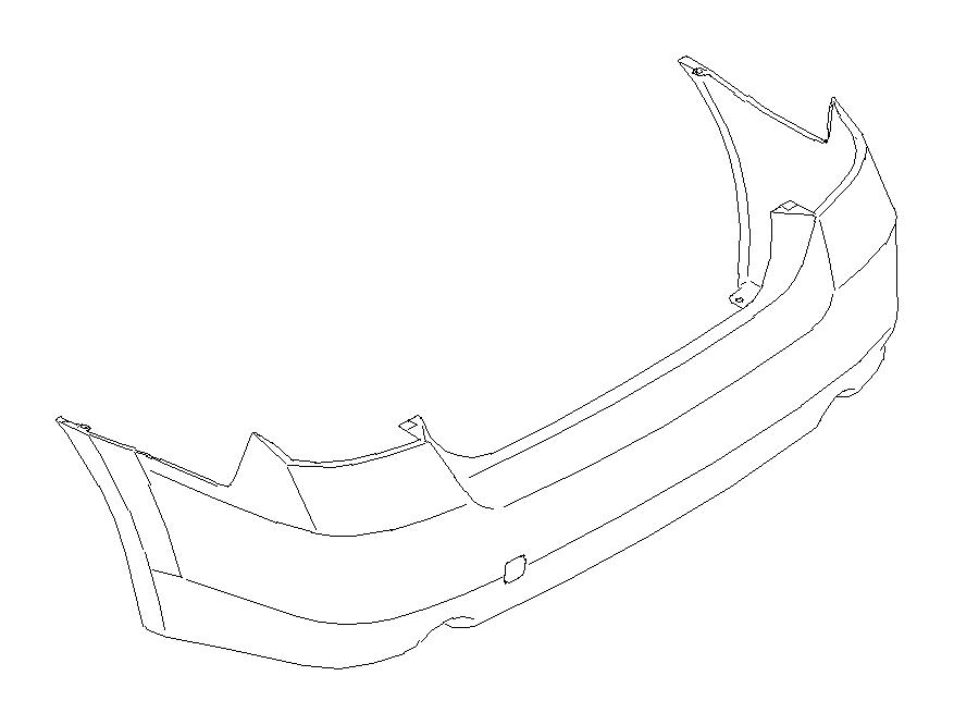 subaru outback bumper-face  rear  usage  paint  body - 57704aj07a