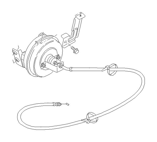 2005 Subaru Impreza Cruise Control Cable Clip - 909115021