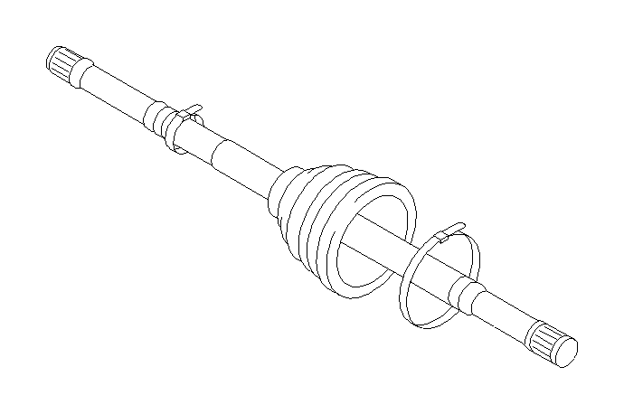 28321sg030 - drive shaft assembly-front   552205