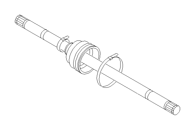 28033pa060 - circlip  for f4w at  axle  shaft  front