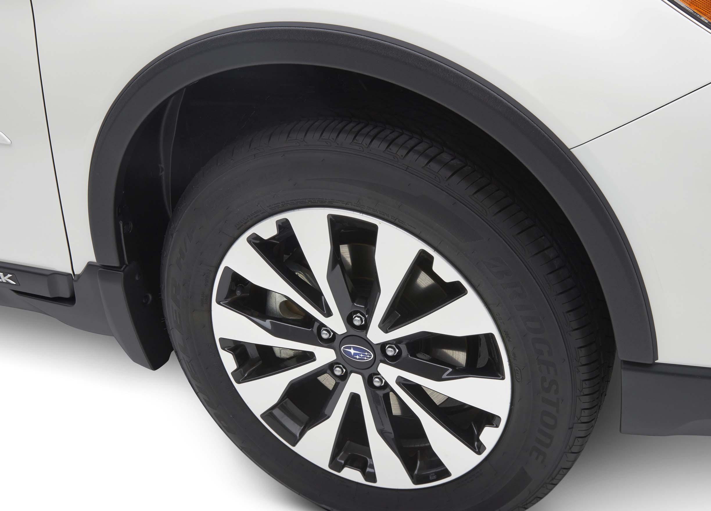 subaru outback 2016 black. wheel arch moldings subaru outback 2016 black