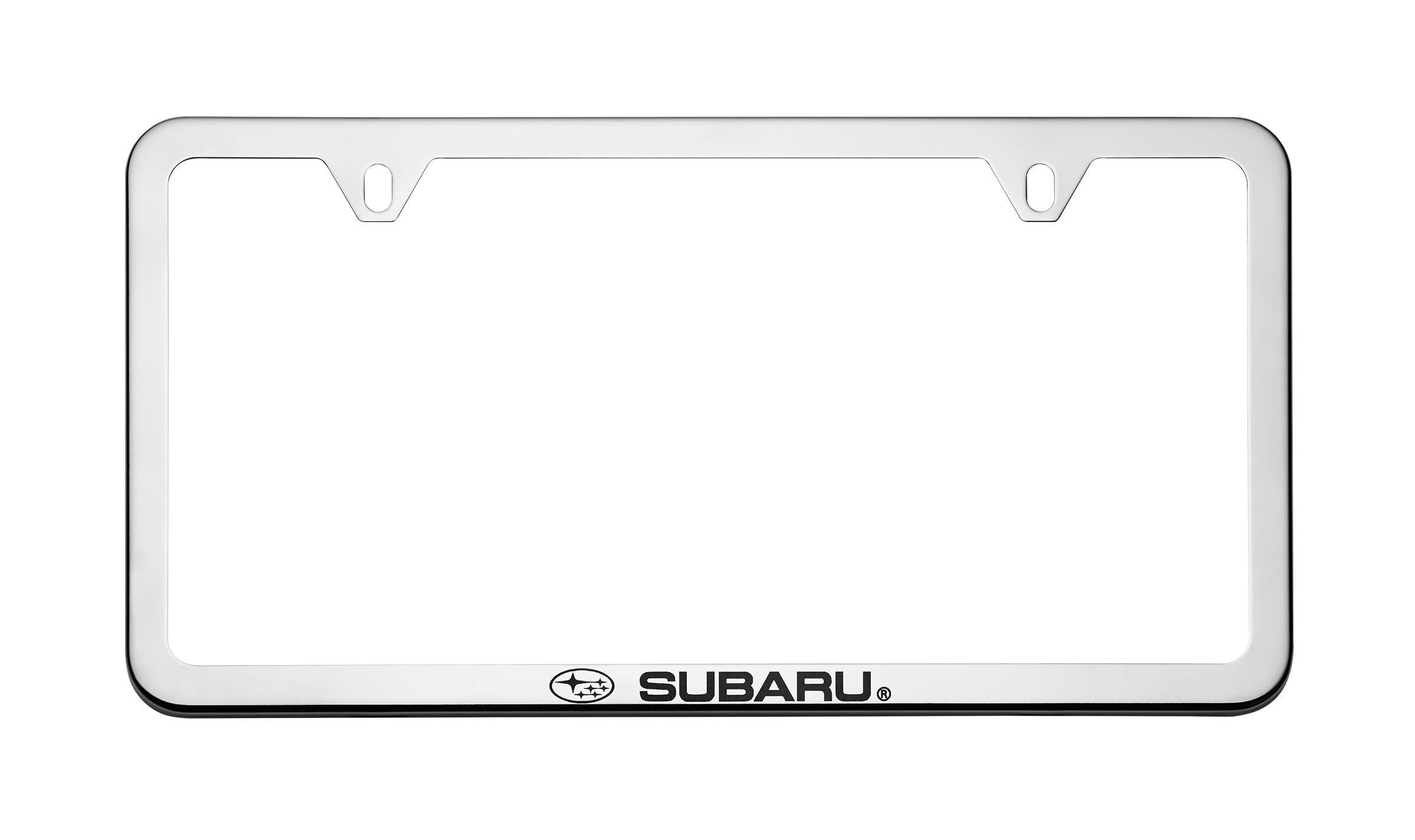 exterior view all 2016 subaru crosstrek exterior accessories subaru license plate frame